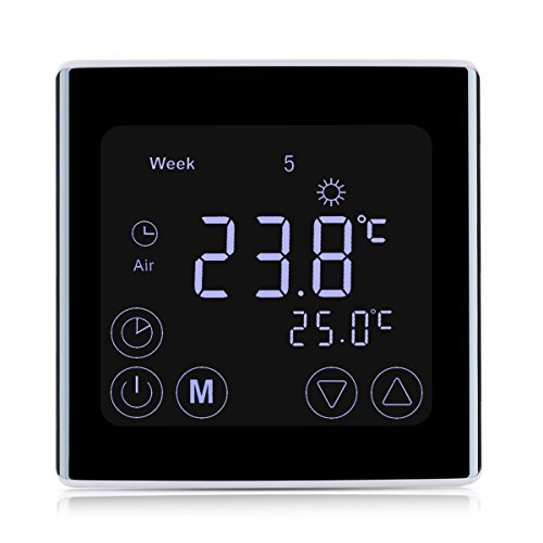 41SZjkdUwBL - Floureon Raumthermostat Touchscreen Thermostat LCD Display Wandthermostat BYC17.GH3 mit Weiß Backlight Digital Smart Programmierbares Heizkörper-Thermostat Fußbodenheizung Wasserheizung Wandheizung Heizung